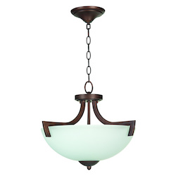 Craftmade 3 Light Convertible Semiflush With Oiled Bronze Finish