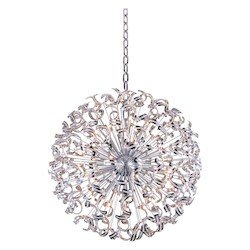 Elegant Lighting 2068 Tiffany Collection Large Hanging Fixture  W54In H54In Lt:45 Chrome Finish