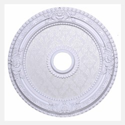 Elegant Decor White 24in. Wide Chandelier Medallion from the Medallion Collection