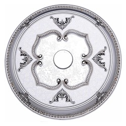 Elegant Decor Pewter 32in. Wide Chandelier Medallion from the Medallion Collection