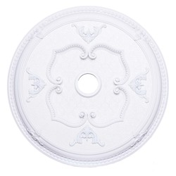 Elegant Decor White 32in. Wide Chandelier Medallion from the Medallion Collection