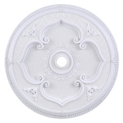 Elegant Decor White 43in. Wide Chandelier Medallion from the Medallion Collection