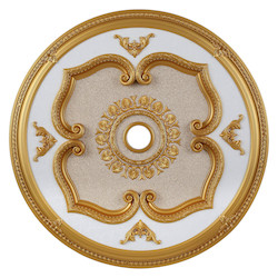 Elegant Decor Gold 43in. Wide Chandelier Medallion from the Medallion Collection