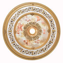 Elegant Decor French Gold 43in. Wide Chandelier Medallion from the Medallion Collection