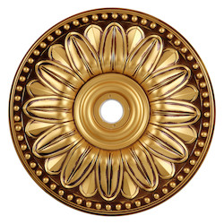 Elegant Decor French Gold 16in. Wide Chandelier Medallion from the Medallion Collection