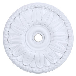 Elegant Decor White 16in. Wide Chandelier Medallion from the Medallion Collection