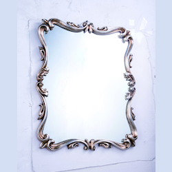 Elegant Decor Antique Silver Leaf 32in. Wide Mirror from the Antique Collection