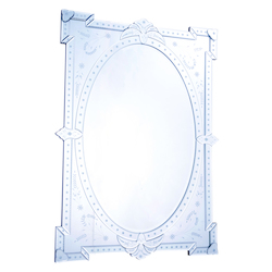 Elegant Decor Clear Mirror 29in. Wide Mirror from the Venetian Collection