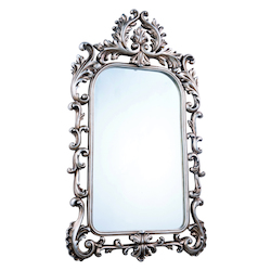 Elegant Decor Antique Silver Leaf 27in. Wide Mirror from the Antique Collection