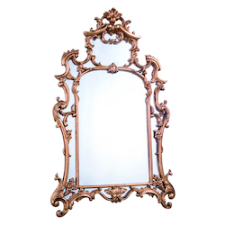 Elegant Decor Antique Gold Leaf 29in. Wide Mirror from the Antique Collection