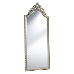 Elegant Decor Silver 32in. Wide Mirror from the Antique Collection
