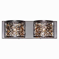 ET2 Bronze Inca 2-Light Wall Mount W/Led Bulb