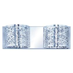 ET2 Polished Chrome Inca 2-Light Wall Mount W/Led Bulb