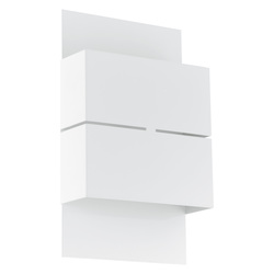 Eglo White Kibea 2 Light LED 5.875in. Wide Outdoor Wall Sconce - ADA Compliant