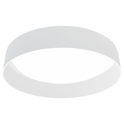 Eglo 1X10.5W Led Ceiling Light W/ White Glass And White Fabric Shade