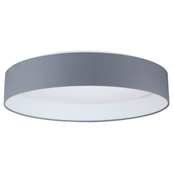 Eglo 1X22W Led Ceiling Light W/ White Glass And Black Fabric Shade