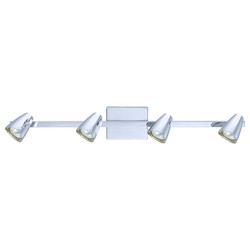 Eglo Chrome Corbera 4 Light 30.75in. Long Track Light with Adjustable Heads