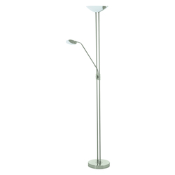 Eglo Matte Nickel Baya-1 3 Light LED 70.875in. High Floor Lamp with Reading Light