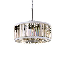 Restoration Revolution Welles 8 Light Clear Crystal Round Chandelier In Polished Nickel Finish