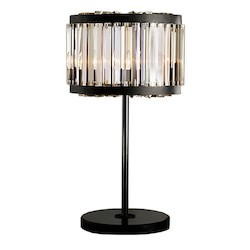 Restoration Revolution Welles 4 Light Clear Crystal Table Lamp In Java Brown Finish