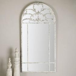 Uttermost Distressed Aged White Gavarresa Arched Mirror