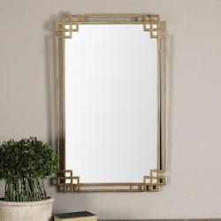Uttermost Oxidized Gold Devoll Rectangular Mirror Designed By Grace Feyock