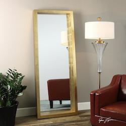 Uttermost Antiqued Gold Leaf Edmonton Rectangular Mirror Designed By Grace Feyock