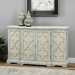 Uttermost Weathered Grey Sophie Cabinet Designed By Jim Parsons