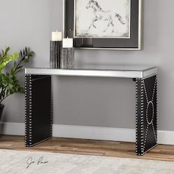 Uttermost Black Lucero Accent Table Designed By Jim Parsons