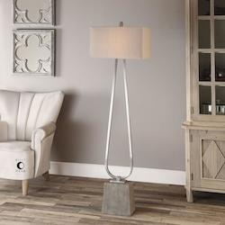 Uttermost Uttermost Carugo Polished Nickel Floor Lamp