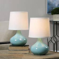 Uttermost Pale Blue Gabbiano Accent Table Lamp 13In. In Height