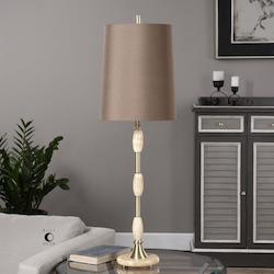 Uttermost Brushed Brass Richland Accent Table Lamp 36In. In Height Designed By Billy Moon