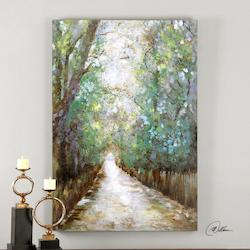 Uttermost Multi-Colored Greenway Canvas Art Designed By Matthew Williams