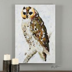 Uttermost Multi-Colored Hoo Are You? Canvas Art Designed By Grace Feyock