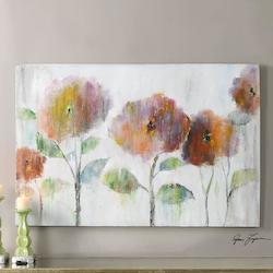 Uttermost Multi-Colored Flowers Of The Rainbow Canvas Art Designed By Grace Feyock