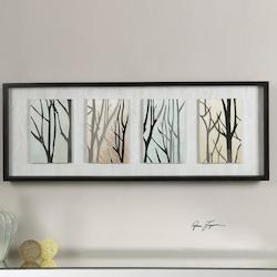 Uttermost Black Satin Tree Trunks On Display Print Designed By Grace Feyock