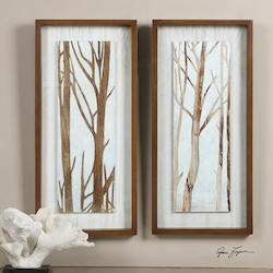 Uttermost White Tree Focus Print Designed By Grace Feyock