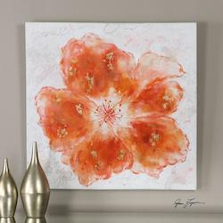 Uttermost Multi-Colored Crushed Orange Canvas Art Designed By Grace Feyock