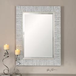 Uttermost Silver Leaf Belaya Rectangular Mirror Designed By Grace Feyock