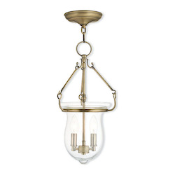 Livex Lighting Antique Brass Canterbury 2 Light Foyer Pendant