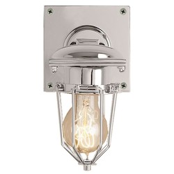 Restoration Revolution Metropolitan 1 Light Wall Sconce Light Fixture With Polished Nickel Finish