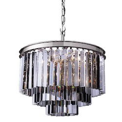 Restoration Revolution Oden 9 Light Silver Shade Chandelier With Polished Nickel Finish