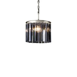 Restoration Revolution Rhys 3 Light Silver Shade Glass Prism Chandelier In Polished Nickel Finish
