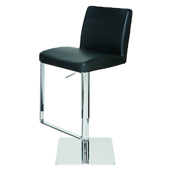 Nuevo Black Matteo Adjustable Stool
