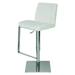 Nuevo White Matteo Adjustable Stool