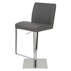 Nuevo Grey Adjustable Matteo Adjustable Stool