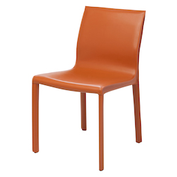 Nuevo Ochre Leather Colter Dining Chair