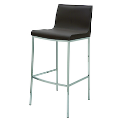 Nuevo Mink Leather Colter Counter Stool