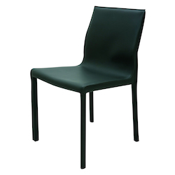 Nuevo Black Leather Colter Dining Chair