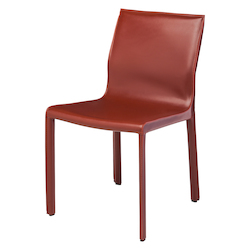 Nuevo Bordeaux Leather Colter Dining Chair